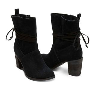 New Toms Mila Booties in Black sz 11